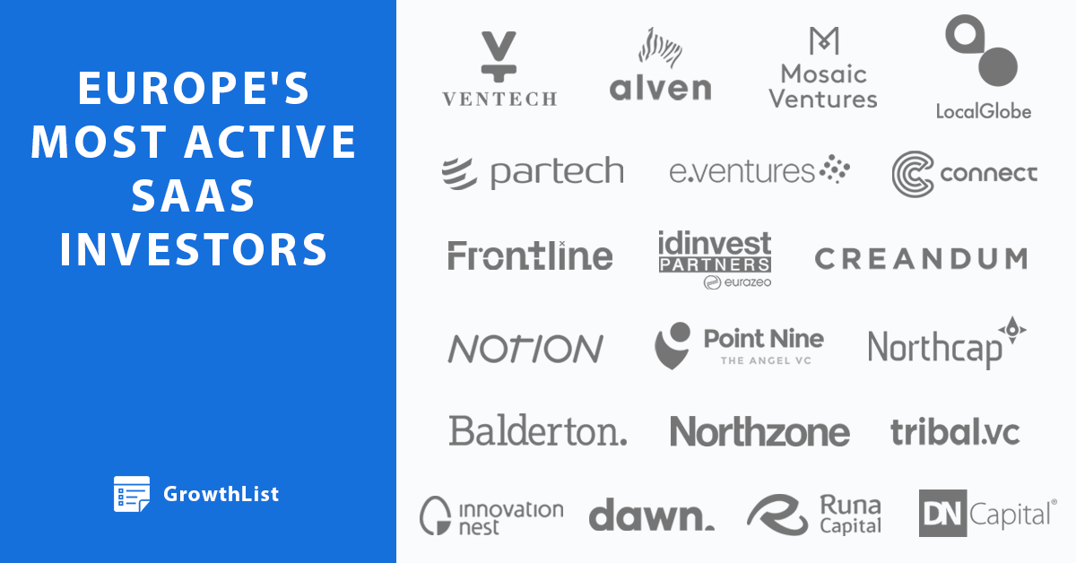 Meet Europe's most active SaaS investors